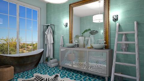 turquoise Bath  - by rebsrebsmmg