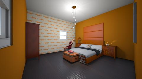 orange themed bedoom - Bedroom  - by Signified