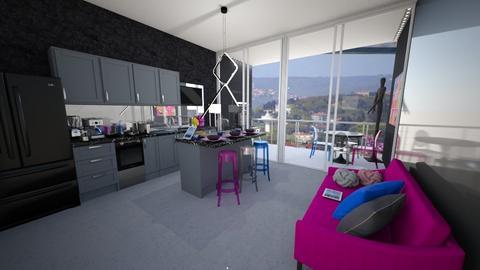 Modern Playful Kitchen - Modern - Kitchen - by bngsokr