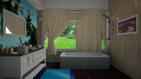 Modern Bathroom 01 - Modern - Bathroom  - by CeeCee_
