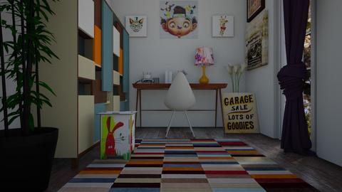 corner office yi - Eclectic - Office - by decordiva1