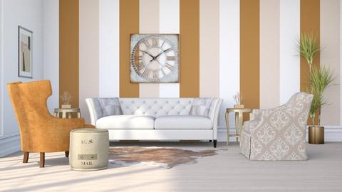 Stripes and a Clock - Classic - Living room  - by millerfam