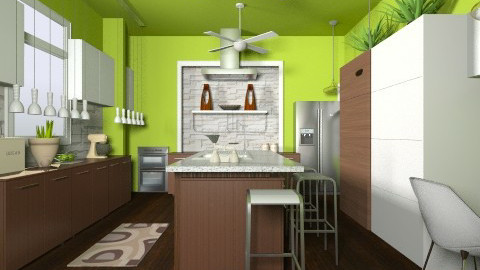 Green Kitchen - Classic - Kitchen  - by Romanshotel