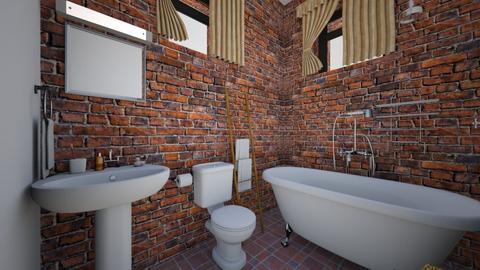 Small Loft Apartment Bath - Bathroom  - by SammyJPili