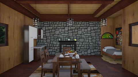 Spoon Tavern - Rustic - Dining room  - by finsfurball