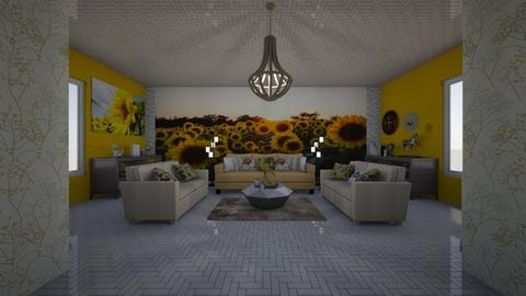 Sunflower Living - Modern - Living room - by Ravina_9069