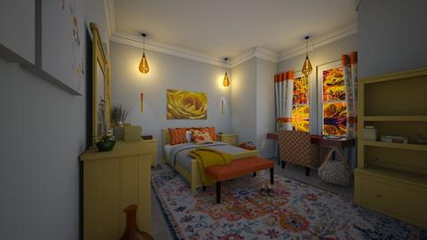 Fall Bedroom - Bedroom  - by MoxieCreative