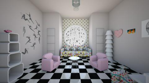 pin up rain - Retro - Living room  - by Valentina Tomas