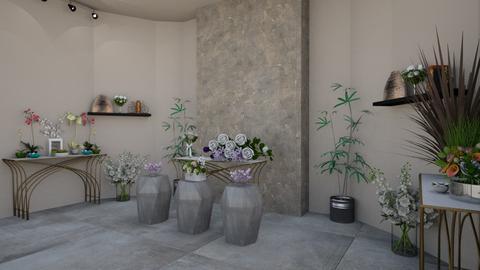 Flower Shop 3 - Vintage - by Savina Ivanova