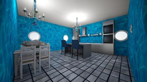 Ocean Kitchen - Kitchen  - by skye245
