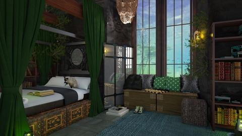 Slytherin dormitory - by Yavanna