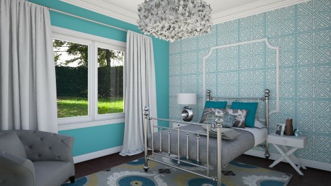 Teen Bedroom 1c - Eclectic - Bedroom  - by corbu_cat