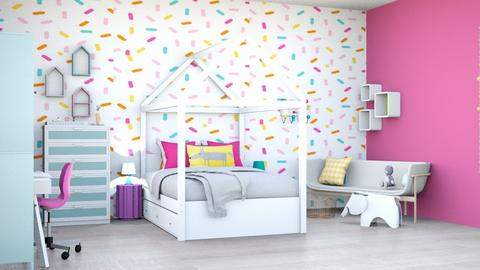 cupcakesinspiredbedroom - Bedroom  - by tahliawaters