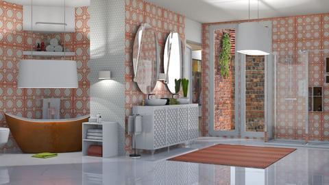bathroom - by nat mi
