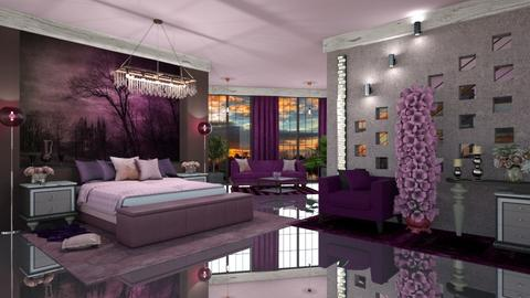 Purple and pink - Modern - Bedroom  - by ZsuzsannaCs