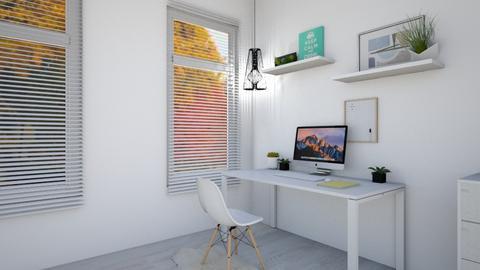 Cute Desk Setup - Minimal - Office  - by its lia