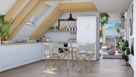 Sloping ceiling - Kitchen  - by Lizzy0715