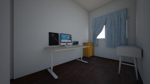 spare room office - by apekii