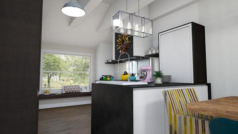 BlankKitchenLivingDining3 - Eclectic - Kitchen  - by hauser