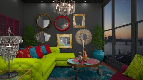 maximalist  - Living room - by MissREZA