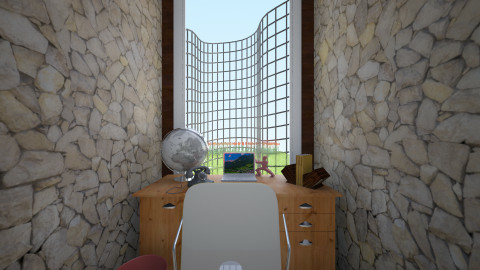 Outdoor Feel Office - Country - Office  - by xgingernutx