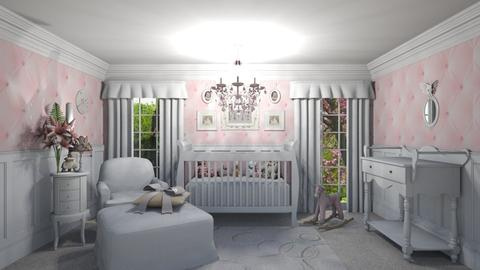 Vintage Pink Nursery - Kids room  - by creato