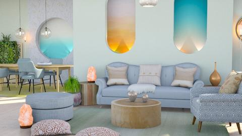 soft edge pastel living - Living room  - by Moonpearl
