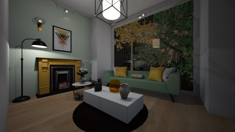 soggiorno verde e giallo - Living room  - by elisawww