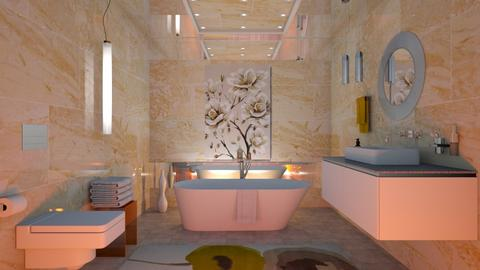 M_ Yellow marble - Bathroom - by milyca8
