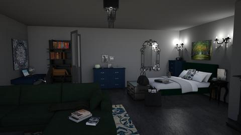 Slytherin Ravenclaw - Classic - Bedroom - by Siraademented1309