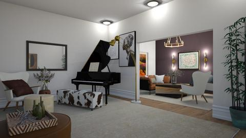 modern brown - Living room  - by meredithcrummey