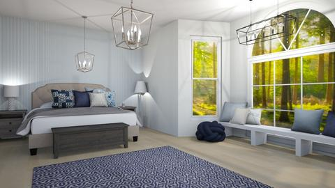 Navy and White Bedroom - Bedroom  - by Intricate