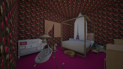 pink kids room - by sophronia12