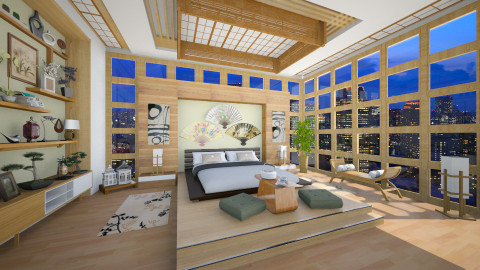 Modern Bedroom in Tokyo - Modern - Bedroom - by maja97
