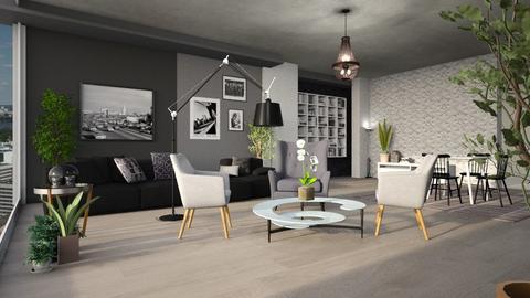 Grey Style - Living room  - by ZuzanaDesign