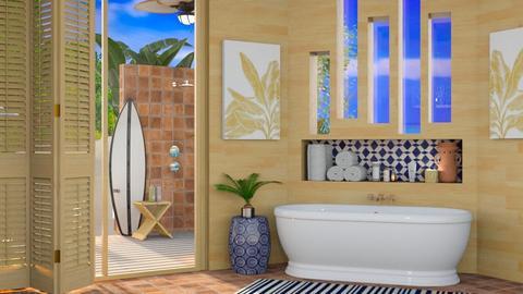 tropical bathroom - Bathroom  - by mmehling