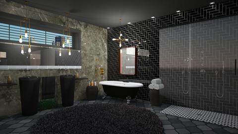 Banho escuro - Bathroom  - by Alecio