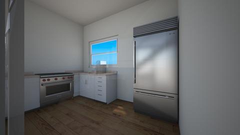 cocina con vista entrada - Kitchen  - by Isa  cuartos