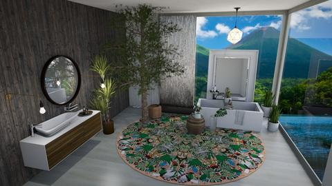 Lily Pad Inspired Bath - Bathroom  - by Jahsoftball_