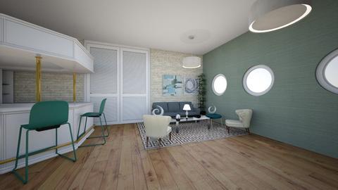 Modern Greek Living area - Modern - Living room  - by FroggyUwU