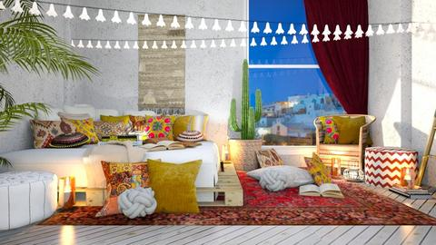 boho bedroom - Bedroom  - by TamarK