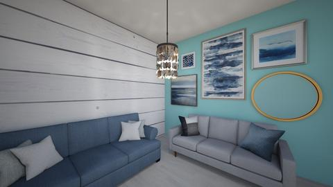 Coastal Living Room - by maggieweller