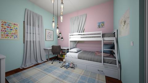 pastel kid room - Kids room  - by mlynum