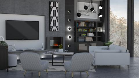M_ Wood wall - Living room  - by milyca8