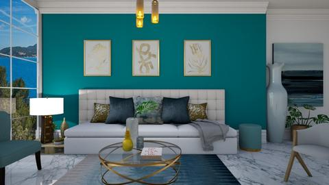 TurquoiseAndMetal - Living room - by Miss MH