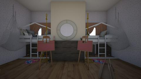 twin bedroom - Kids room  - by 1aleishakym