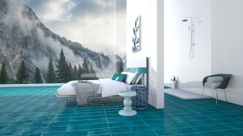 A splash of colour - Modern - Bedroom  - by Tuubz