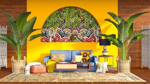 indian living room - by nitya_avvari