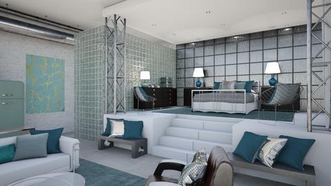 Turquoise Metal Bedroom 3 - Bedroom - by jjp513