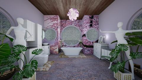 Lavender Royal Splash - Bathroom - by XelleWishes
